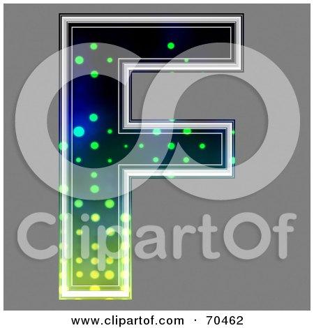 Royalty-Free (RF) Clipart Illustration of a Halftone Symbol; Capital F by chrisroll