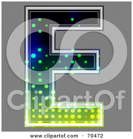 Royalty-Free (RF) Clipart Illustration of a Halftone Symbol; Capital E by chrisroll