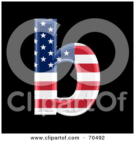 Royalty-Free (RF) Clipart Illustration of an American Symbol; Lowercase b by chrisroll