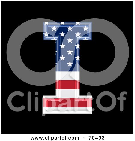 Royalty-Free (RF) Clipart Illustration of an American Symbol; Capital I by chrisroll