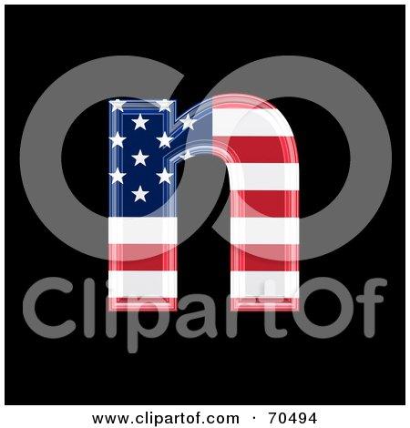 Royalty-Free (RF) Clipart Illustration of an American Symbol; Lowercase n by chrisroll