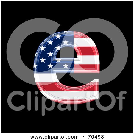 Royalty-Free (RF) Clipart Illustration of an American Symbol; Lowercase e by chrisroll