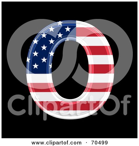 Royalty-Free (RF) Clipart Illustration of an American Symbol; Capital O by chrisroll
