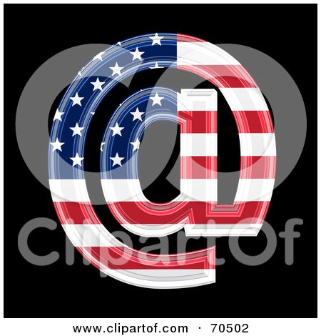 Royalty-Free (RF) Clipart Illustration of an American Symbol; Arobase by chrisroll