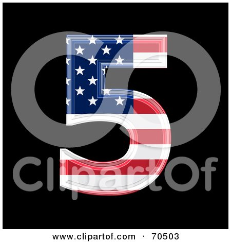 Royalty-Free (RF) Clipart Illustration of an American Symbol; Number 5 by chrisroll
