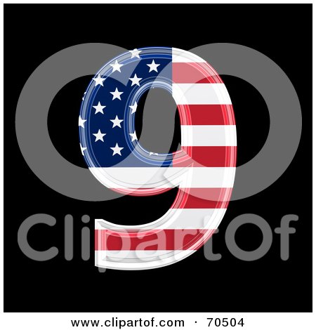Royalty-Free (RF) Clipart Illustration of an American Symbol; Number 9 by chrisroll