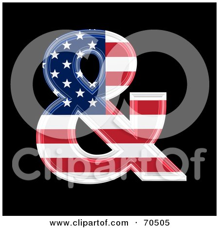 Royalty-Free (RF) Clipart Illustration of an American Symbol; Ampersand by chrisroll