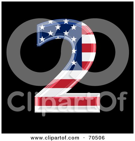 Royalty-Free (RF) Clipart Illustration of an American Symbol; Number 2 by chrisroll