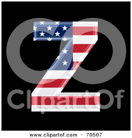 Royalty-Free (RF) Clipart Illustration of an American Symbol; Capital Z by chrisroll