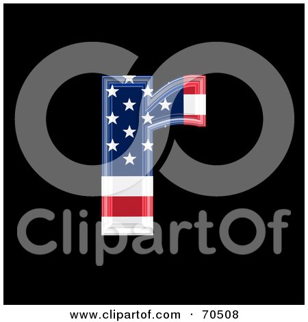 Royalty-Free (RF) Clipart Illustration of an American Symbol; Lowercase r by chrisroll