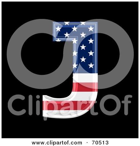 Royalty-Free (RF) Clipart Illustration of an American Symbol; Capital J by chrisroll