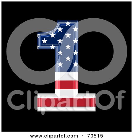 Royalty-Free (RF) Clipart Illustration of an American Symbol; Number 1 by chrisroll