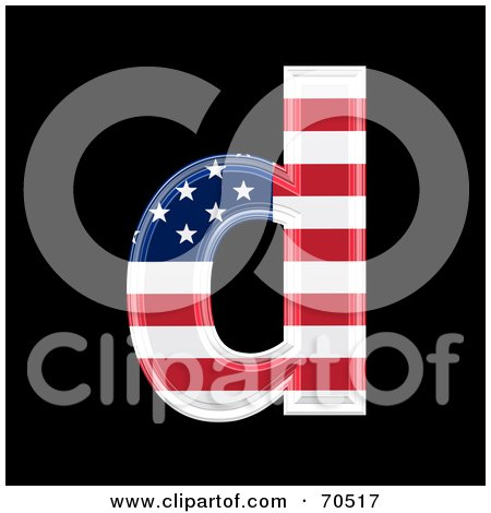 Royalty-Free (RF) Clipart Illustration of an American Symbol; Lowercase d by chrisroll