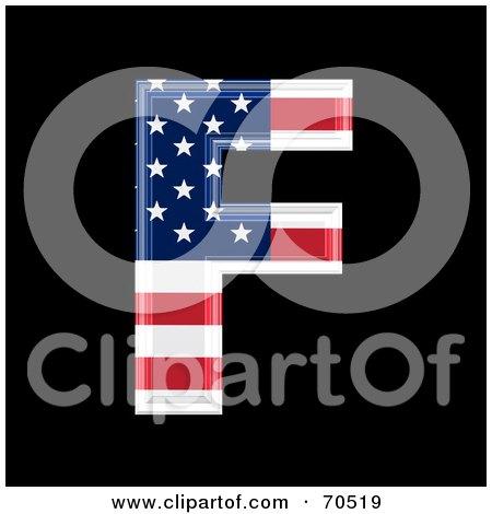 Royalty-Free (RF) Clipart Illustration of an American Symbol; Capital F by chrisroll