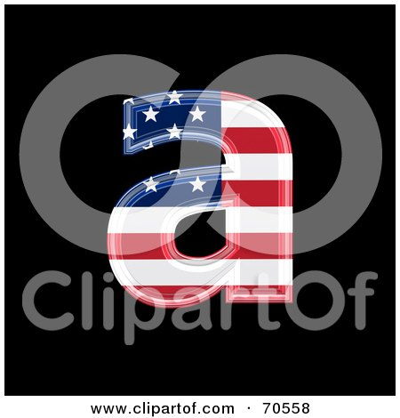 Royalty-Free (RF) Clipart Illustration of an American Symbol; Lowercase a by chrisroll