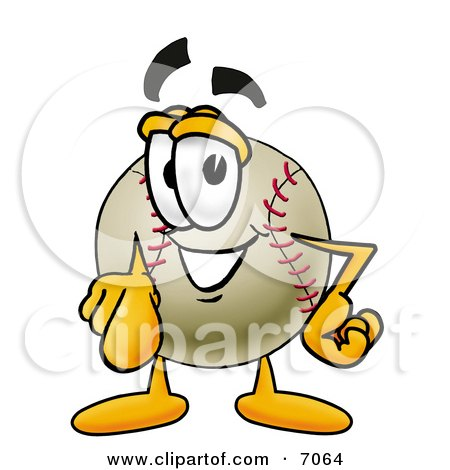 Clipart Picture Of A Baseball Mascot Cartoon Character Pointing At The Viewer