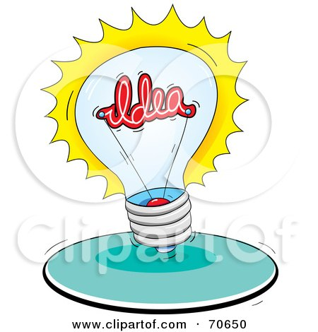 Bright Lightbulb With An Idea Inside Posters, Art Prints