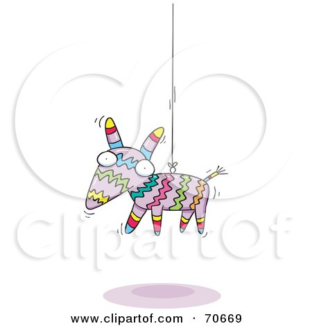 Donkey Pinata Hanging From A Wire Posters, Art Prints