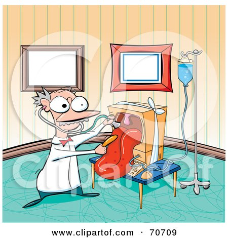 Computer Doctor Checking A Computer's Tongue Posters, Art Prints
