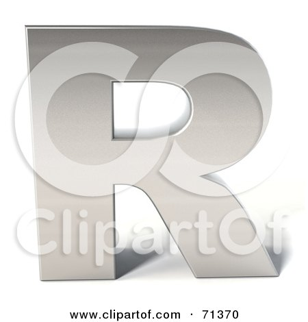 letter r diamond. 3d Chrome Capital Letter R