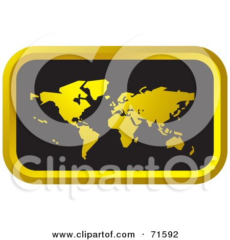 Royalty-Free (RF) Clipart Illustration of a Black And Golden Atlas Website Icon by Lal Perera
