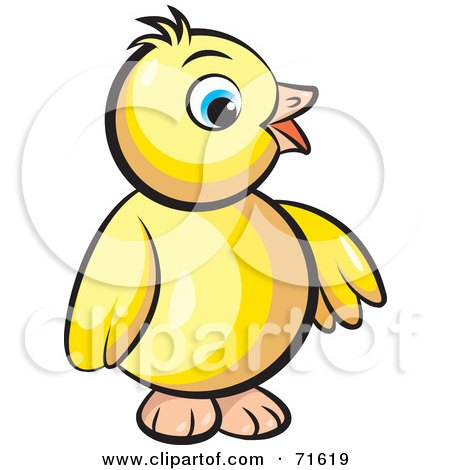 Royalty-Free (RF) Clipart Illustration of a Happy Yellow Baby Bird ...