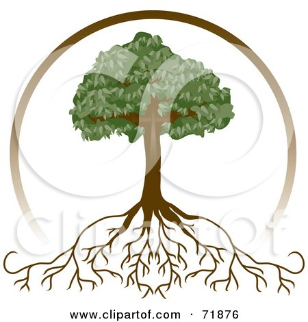 clip art tree with roots. Royalty-free clipart picture