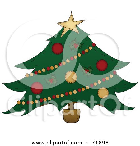 Wide Decorated Christmas Tree Posters, Art Prints