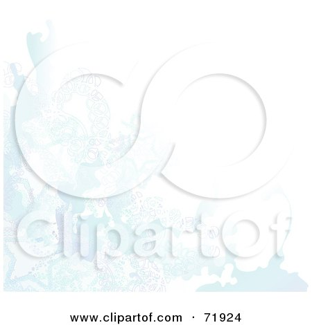 Royalty-Free (RF) Clipart Illustration of a Blue And White Watercolor Background With Stars And Abstract Designs by inkgraphics