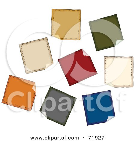 Royalty-Free (RF) Clipart Illustration of a Digital Collage Of Peeling Folk Styled Stickers by inkgraphics