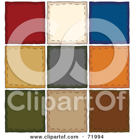 Royalty-Free (RF) Clipart Illustration of a Digital Collage Of Colorful Folk Art Squares by inkgraphics