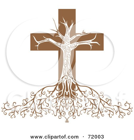 Deeply Rooted Crucifix Tree Posters, Art Prints