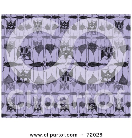 Royalty-Free (RF) Clipart Illustration of a Purple And Black Moth Motif by inkgraphics