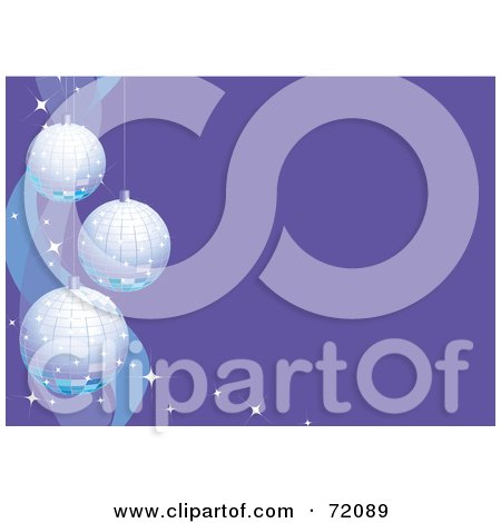 Royalty-Free (RF) Clipart Illustration of a Purple Christmas Background With Mosaic Ornaments And Text Space by inkgraphics