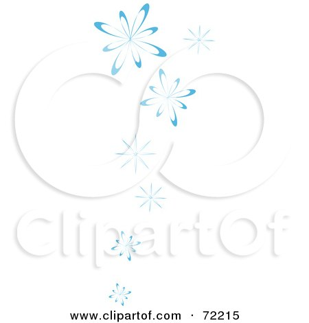 Royalty-Free (RF) Clipart Illustration of a Border Of Blue Falling Snow by Rosie Piter