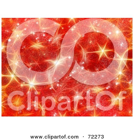 Red Christmas Background With Golden Shining Stars Posters, Art Prints
