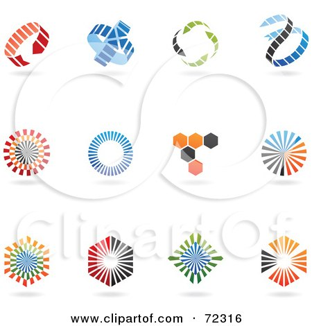 Royalty-Free (RF) Clipart Illustration of a Digital Collage Of Colorful Logo Icons - Version 2 by cidepix