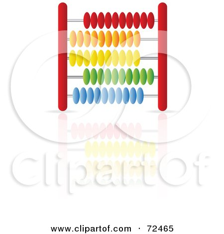 Royalty-Free (RF) Clipart Illustration of a Red Abacus With Colorful Beads - Version 1 by cidepix