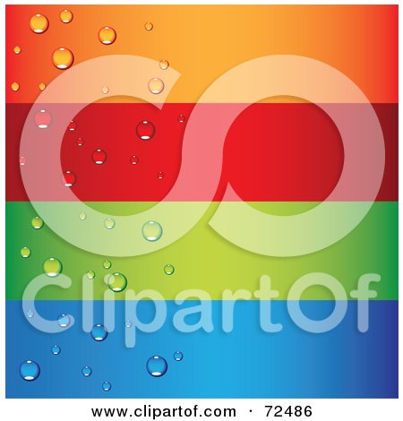 Royalty-Free (RF) Clipart Illustration of a Digital Collage Of Blank Horizontal Colorful Waterdrop Banners by cidepix