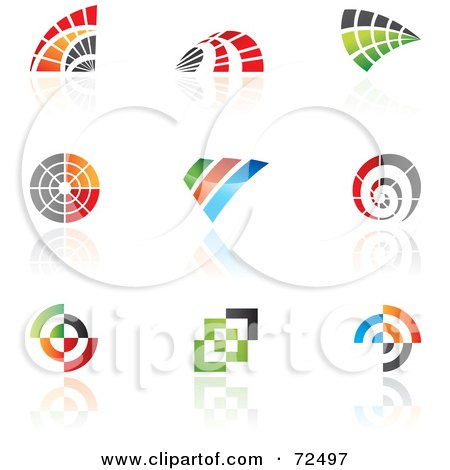 Royalty-Free (RF) Clipart Illustration of a Digital Collage Of Colorful Logo Icons - Version 10 by cidepix