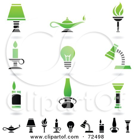 Royalty Free Rf Clipart Illustration Of A Green And