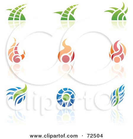 Royalty-Free (RF) Clipart Illustration of a Digital Collage Of Colorful Logo Icons - Version 13 by cidepix