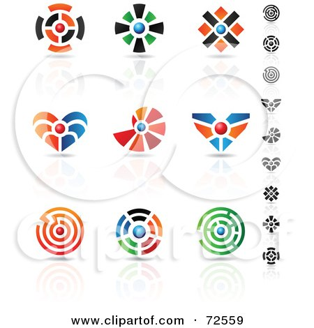 Royalty-Free (RF) Clipart Illustration of a Digital Collage Of Colorful Logo Icons - Version 12 by cidepix