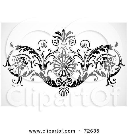 Black And White Floral. a Black And White Floral