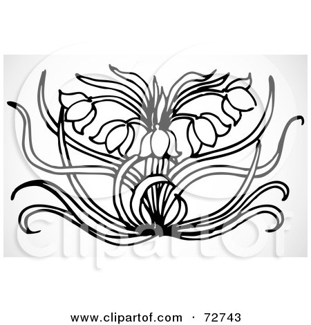 black and white tulip flower and leaf design element dog clipart photos dog clipart black and white