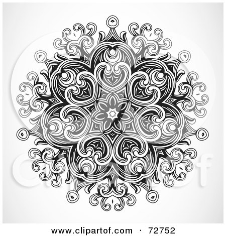 black and white floral pattern. And White Floral Design