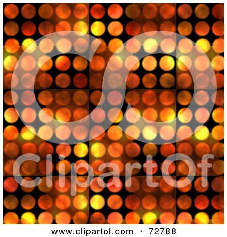 Royalty-Free (RF) Clipart Illustration of a Background Of Flames Over Black Circles by Arena Creative