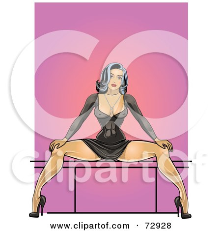 Woman Sitting with Legs Spread
