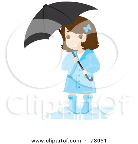 Royalty-free clipart picture of a cute little girl wearing