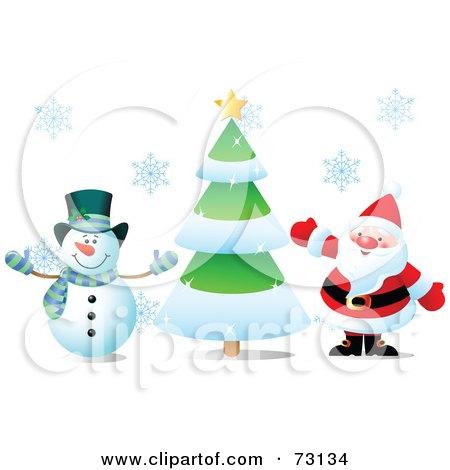 Claus Snowman Snowman And Santa Claus